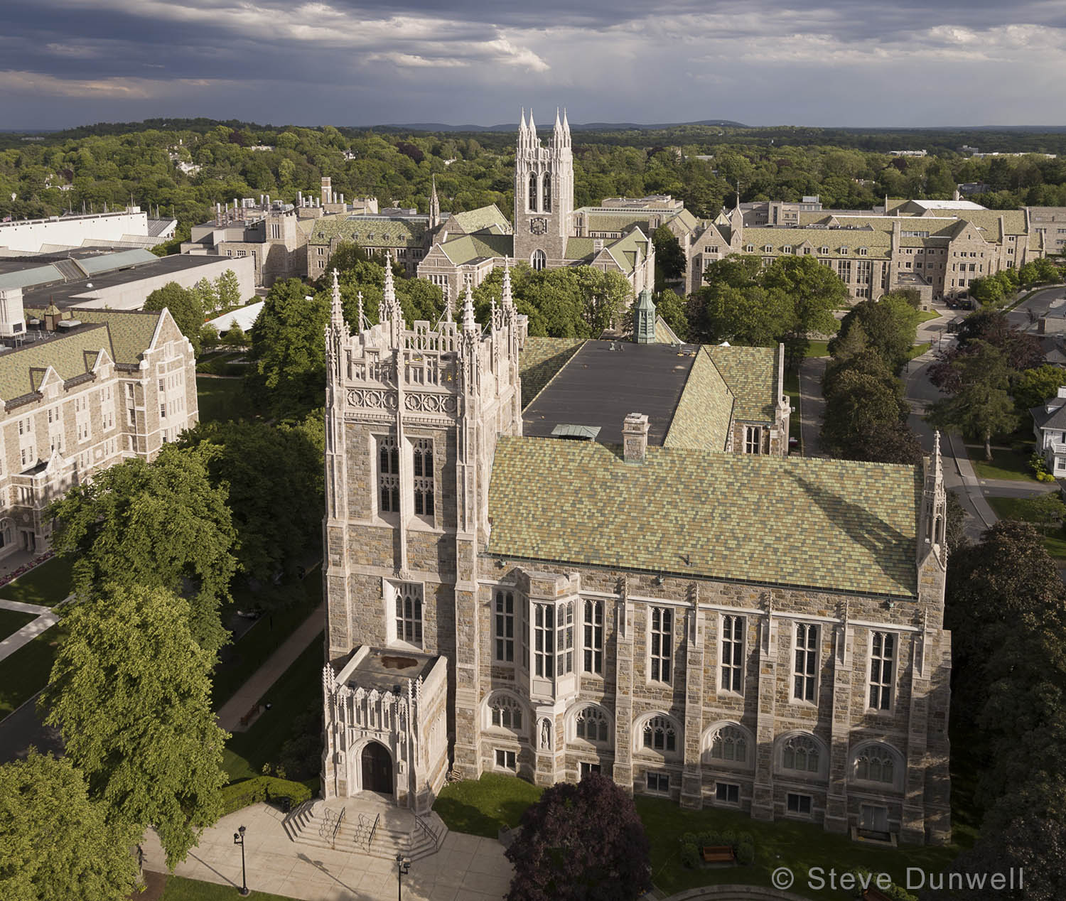 Boston College, Newton, MA aerial