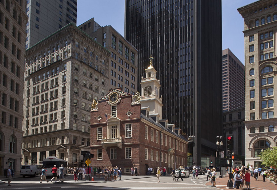 Old State House, Boston, MA Freedom Trail site of Boston Massacre