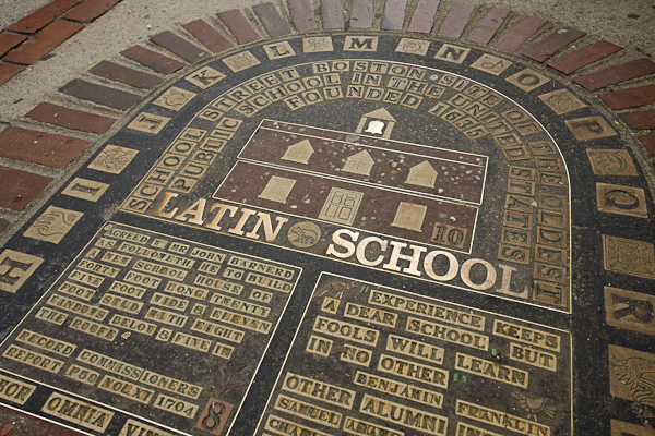 Latin School site, School St., Boston, MA Freedom Trail
