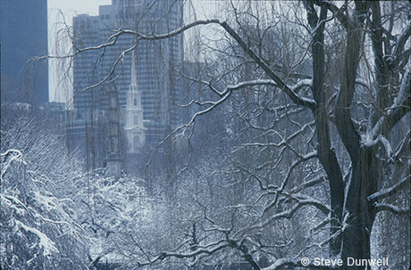 Winter, snow, Public Garden, Park St. Church, BFT