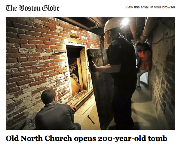 200 year old tomb under Old North Church