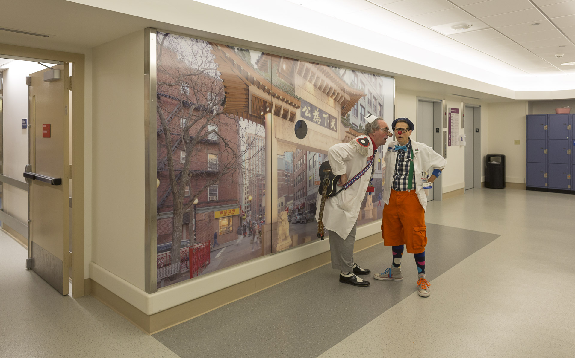 Discovery murals at Children's Hospital, Longwood, Boston, MA