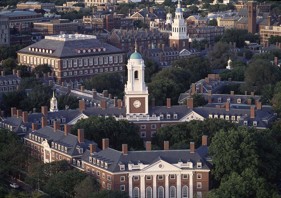 Eliot House; Lowell House aerial, Harvard,